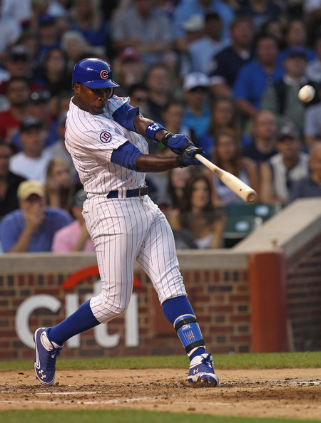 Alfonso Soriano has been playing in some new Under Armour cleats.