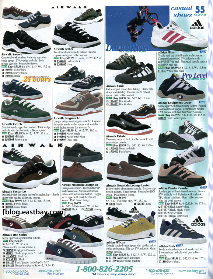 Eastbay Memory Lane: 1996 Casual Shoes, Skate, BMX