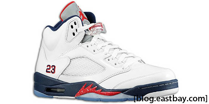 new style f7994 01d3f Air Jordan Retro 5 White Varsity Red Obsidian 136027-103