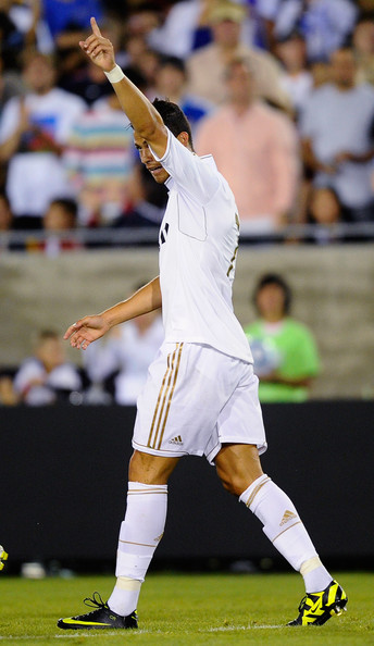 Cristiano Ronaldo wearing his Nike signature boots, showed LA fans how good he is.