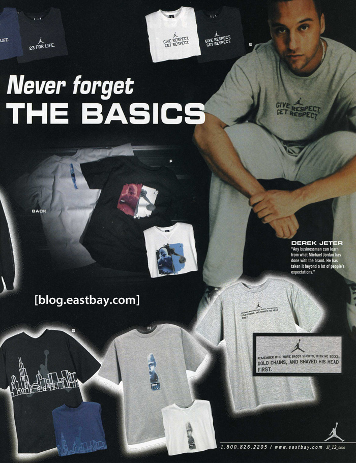 Eastbay Memory Lane: Jordan Catalog Insert from 2000, Derek Jeter.