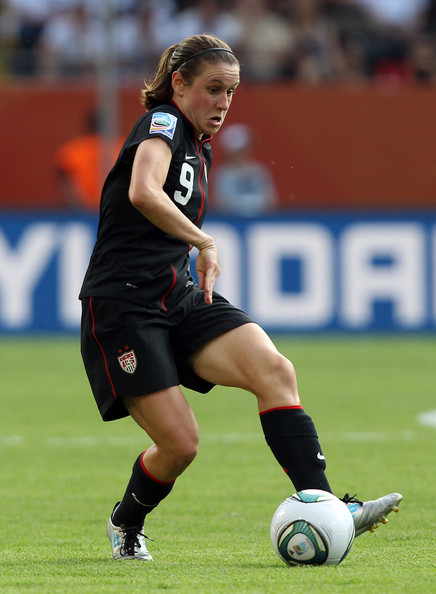 Heather O'Reilly of the US National Team wearing the adidas F50 adiZero.