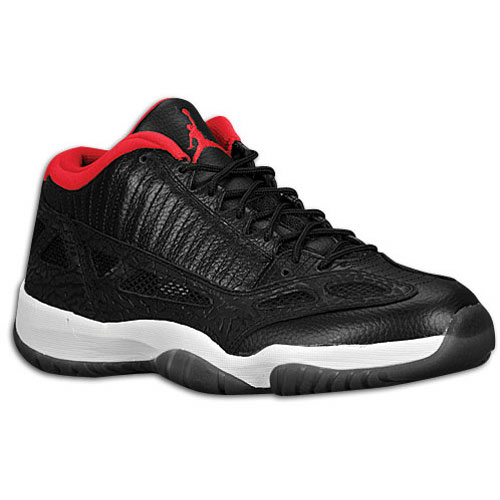 Jordan Retro 11 Low Black/Varsity Red White Available