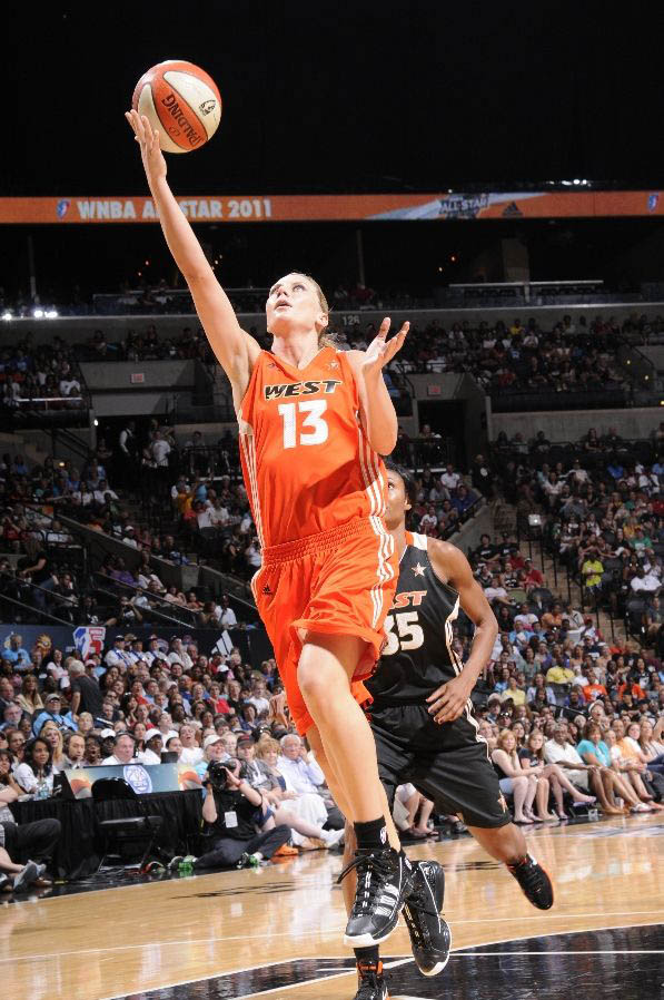 Penny Taylor wearing the adidas adiZero Infiltrate.