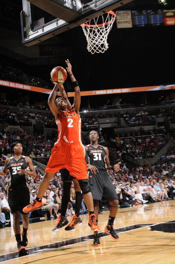 Another shot of the Nike LeBron 8 worn by Swin Cash.
