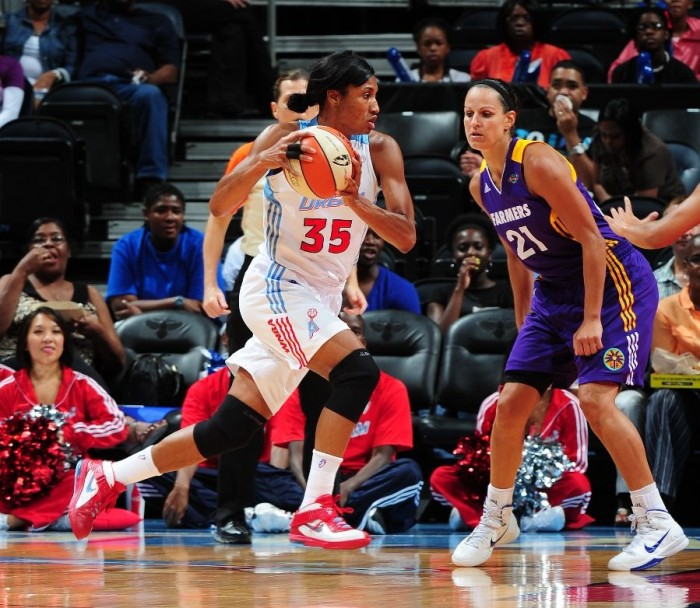 Angel McCoughtry in the Nike Soldier V.