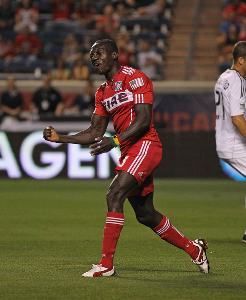 Dominic Odura of Chicago Fire in wearing PUMA soccer cleats.