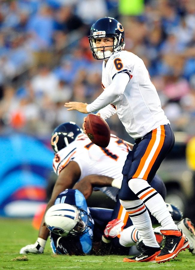 Jay Cutler wearing Nike Air Zoom Super Bad 3