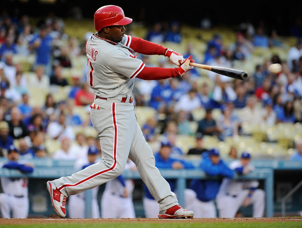 Jimmy Rollins continues to turn heads in his Jordan baseball cleats this season.