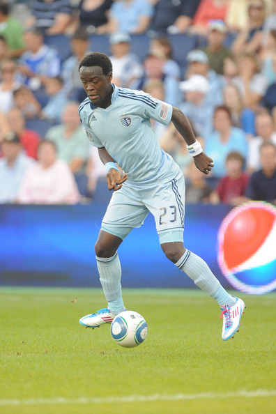 Kel Kamara of Sporting Kansas City in the Lightning colorway of the F50 adiZero.