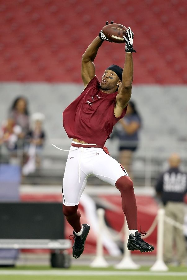 Larry Fitzgerald wearing Nike Zoom Alpha Talon