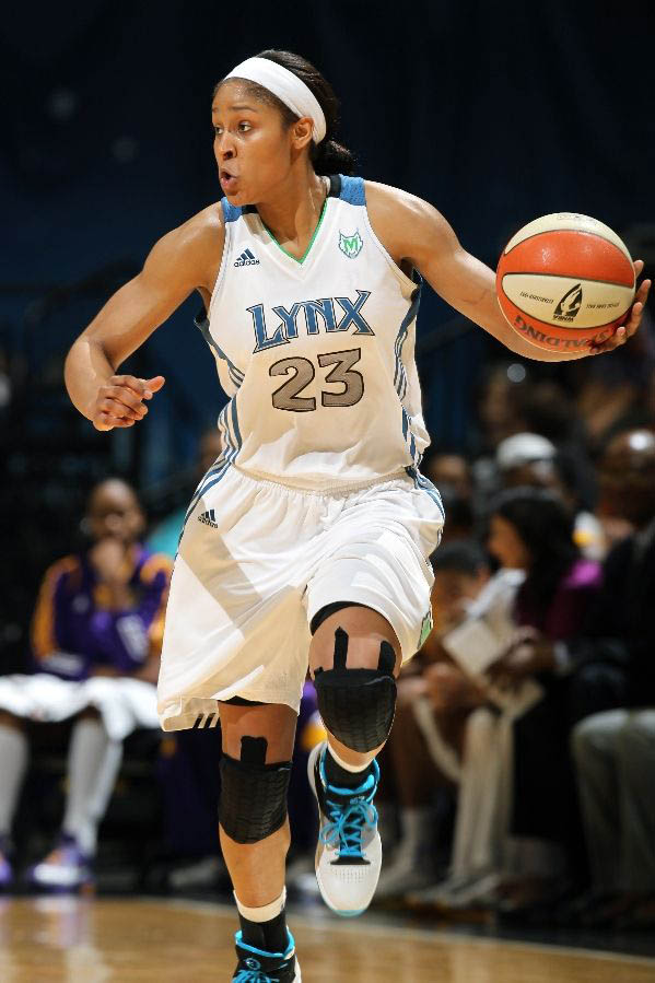 Maya Moore in the Jordan Fly Wade.