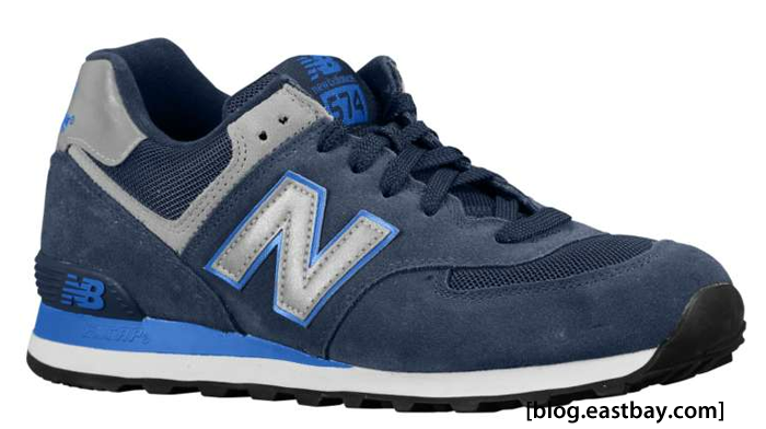 New Balance 574 Suede Blue/Silver