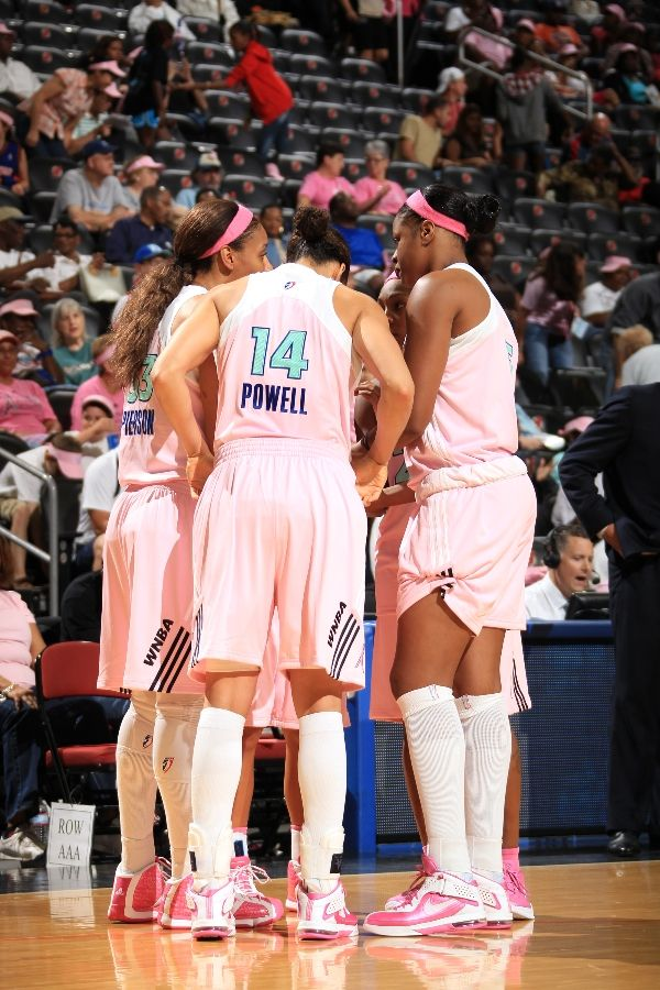 New York Liberty wearing Nike and adidas Basketball Shoes
