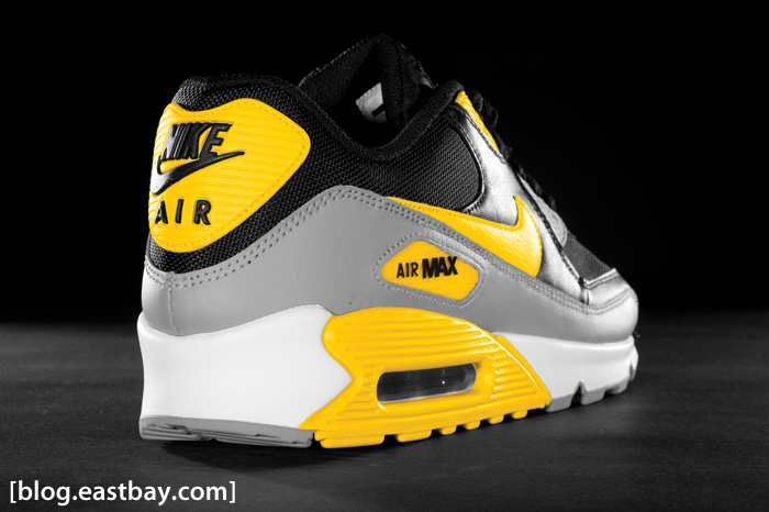Nike Air Max 90 Black Grey Varsity Maize  bac95785e