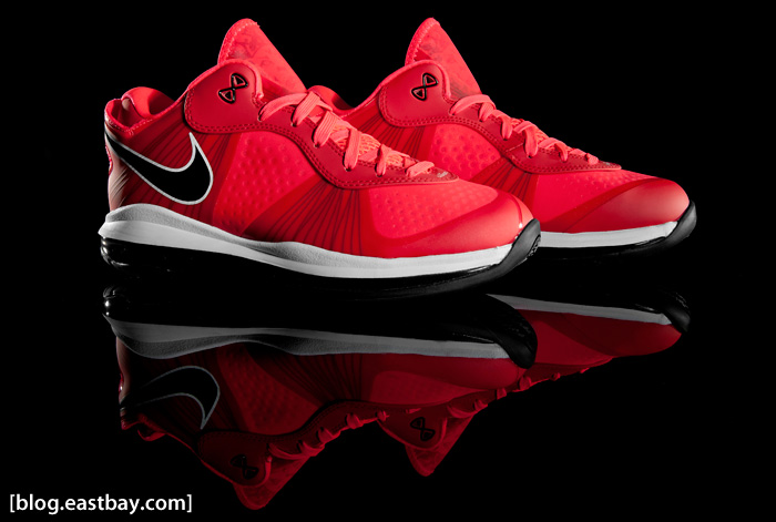 Nike LeBron 8 Solar Red Detailed Photos