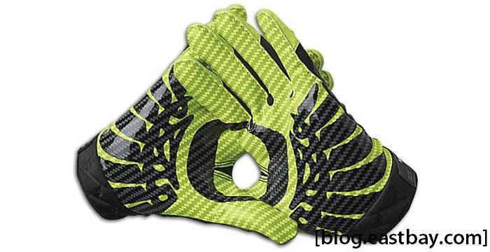 Nike Vapor Jet Premium Rivalry Gloves Oregon Ducks