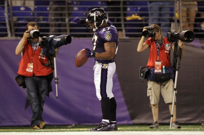 Ray Rice wearing Nike Air Zoom Super Bad 3