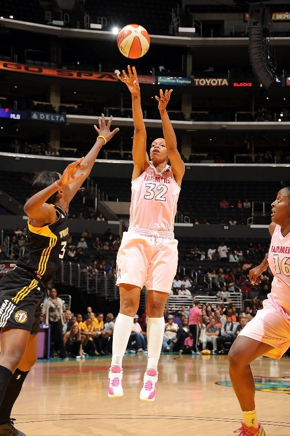 Tina Thompson wearing Nike Air Max Soldier V