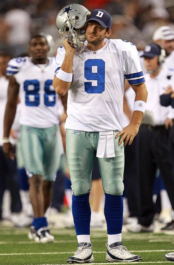 Tony Romo wearing Nike Air Zoom Super Bad 3