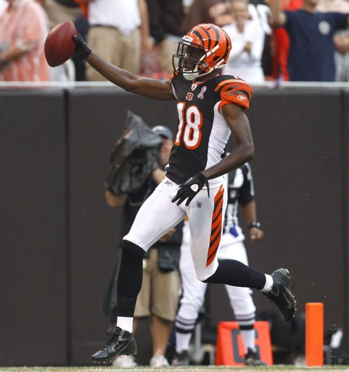 AJ Green wearing Nike Zoom Alpha Talon