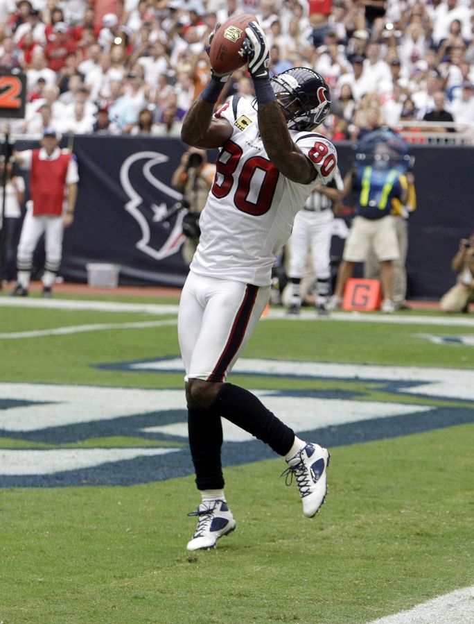 Andre Johnson wearing Jordan Football Cleats