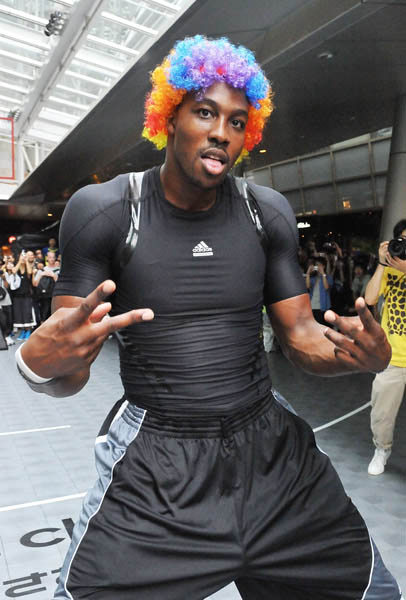 Dwight Howard Clowns Around in adidas Crazy Light Tokyo Japan 1