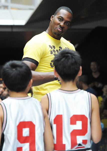 Dwight Howard Clowns Around in adidas Crazy Light Tokyo Japan
