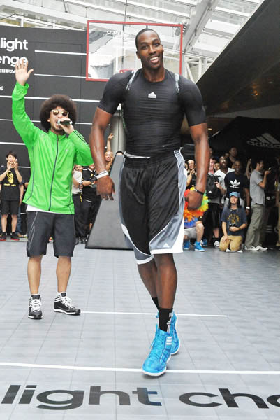 Dwight Howard Clowns Around in adidas Crazy Light Tokyo Japan 4
