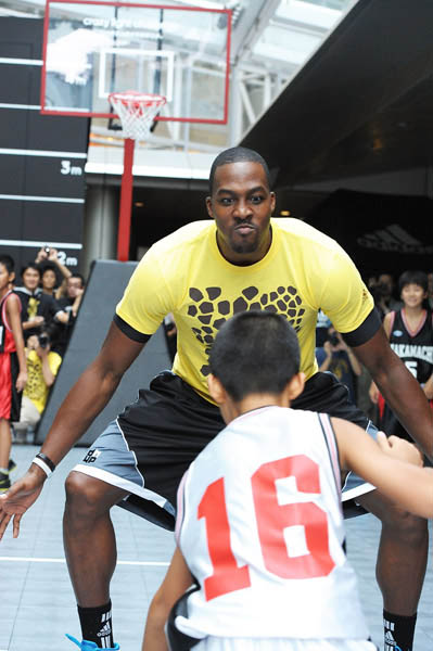 Dwight Howard Clowns Around in adidas Crazy Light Tokyo Japan 5