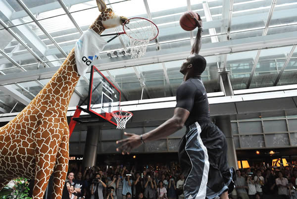 Dwight Howard Clowns Around in adidas Crazy Light Tokyo Japan 10