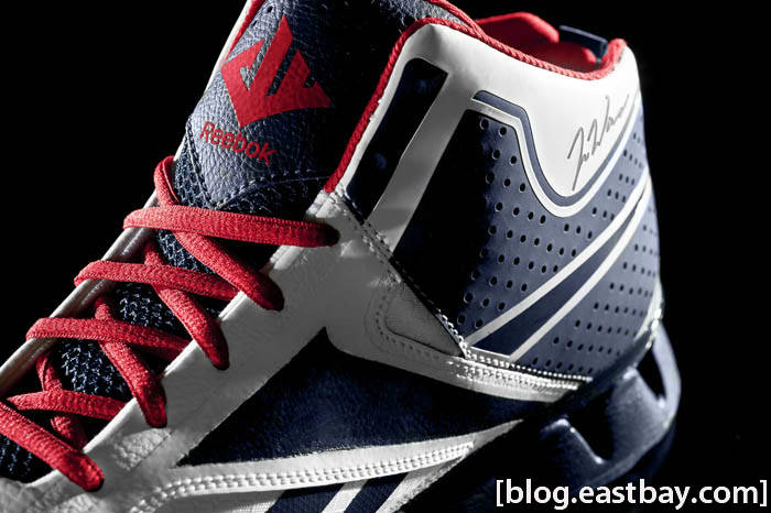 Reebok Zig Encore John Wall White Navy Red Ice Medial Close