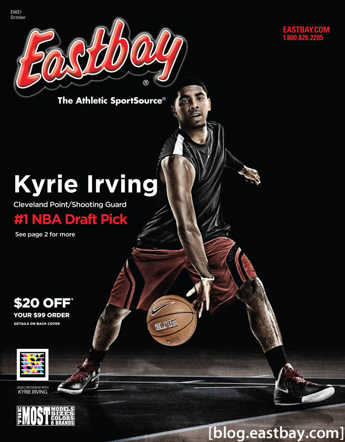 Kyrie Irving Covers Eastbay's Latest
