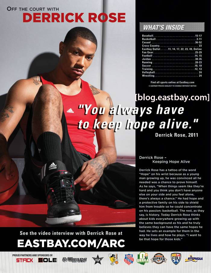 Eastbay Magazine Derrick Rose Cover October 2011 EWL1 2