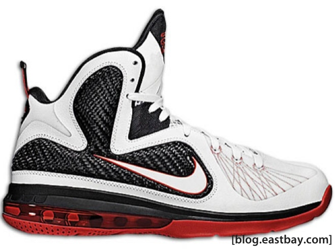 22ca7a4b918 Nike LeBron 9 - White Sport Red - Now Available