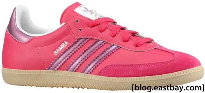 adidas Originals Women's Samba Leather Sharp Red Pink Metallic Zero Metallic G22476