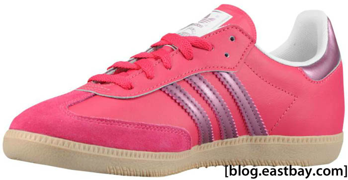 adidas Originals Women's Samba Leather Sharp Red Pink Metallic Zero Metallic G22476 B