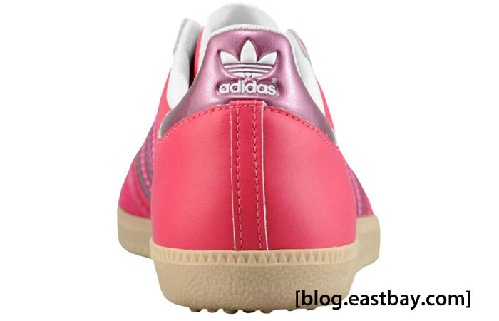 adidas Originals Women's Samba Leather Sharp Red Pink Metallic Zero Metallic G22476 C