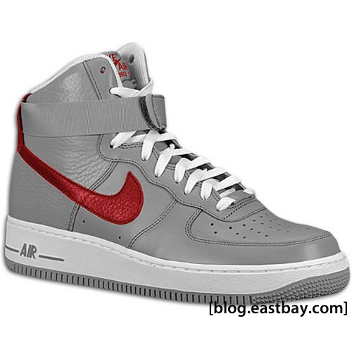 Available: Nike Air Force 1 High 07 – Medium Grey/Team Red