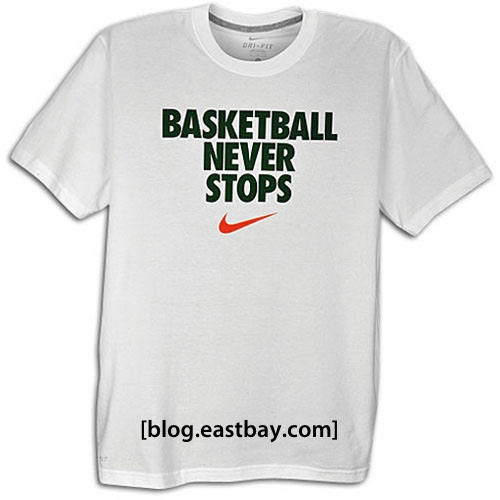 nike basketball never stops t shirt eastbay blog