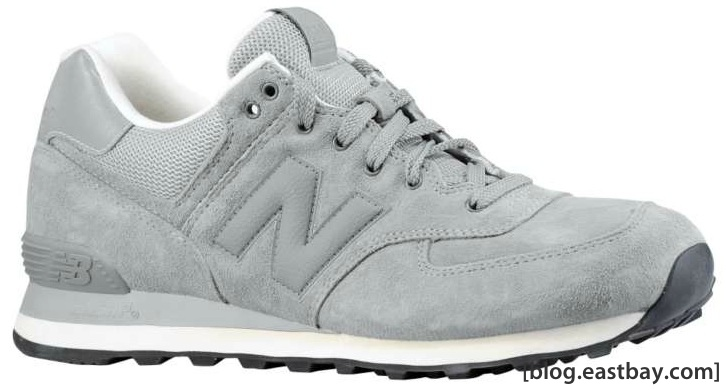 new style 01c17 c6c62 New Balance 574 Lux Suede - Grey/White | Eastbay Blog ...