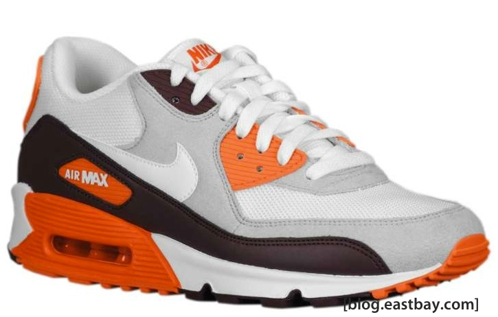 new concept e0594 5b261 Nike Air Max 90 - Red Mahogany/Safety Orange-White | Eastbay ...