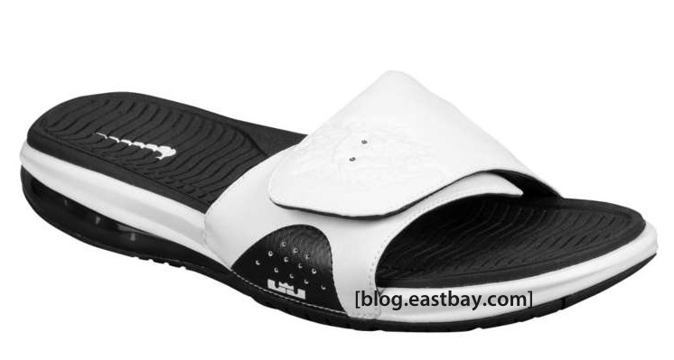 683dce1c957 Available now  Nike Air LeBron Slide – White Black