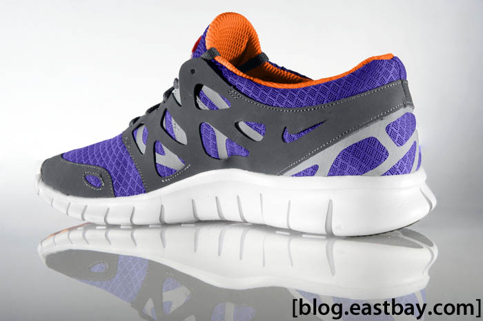 Nike Free Run + 2 Pure Purple Total Orange Anthracite Wolf Grey 43815580 (2)