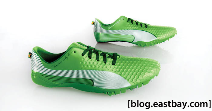 PUMA Bolt FAAS 007 LTD Classic Green White Usain Bolt Spikes (1)