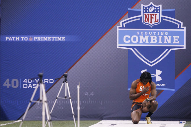 Robert Griffin III Runs Impressive 40 at NFL Combine in adidas adiZero 5-Star Cleats (1)