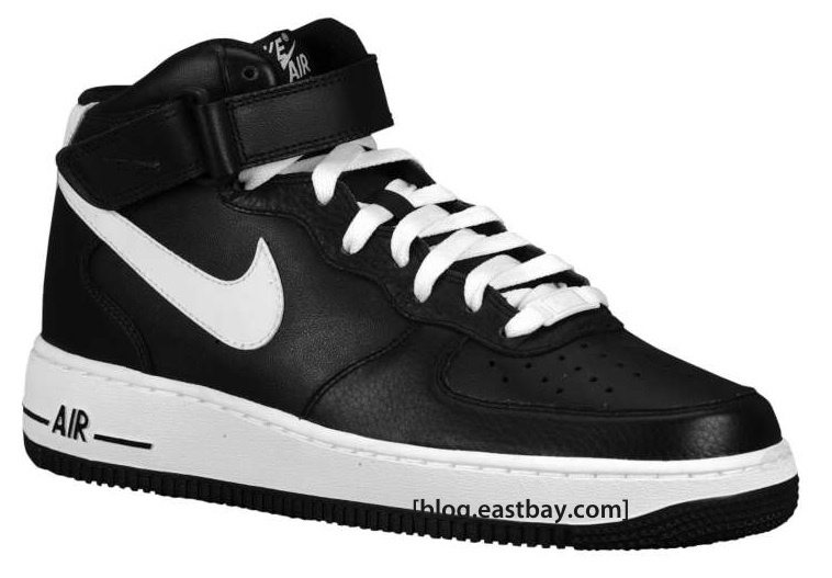 nike air force 1 mid white and black