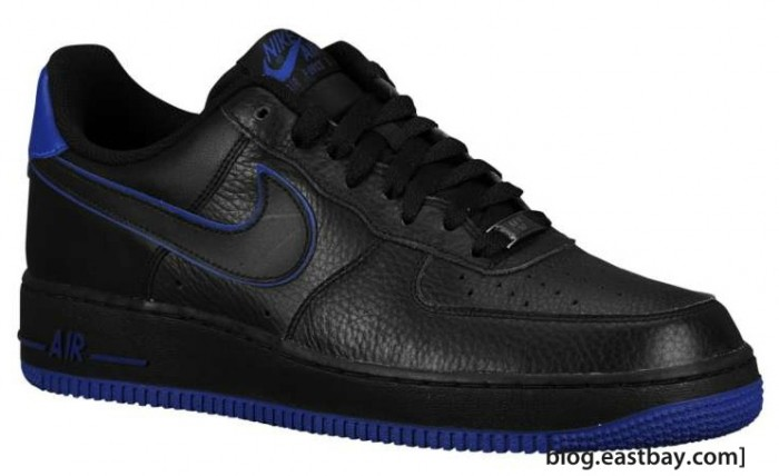 blue and black nike air force