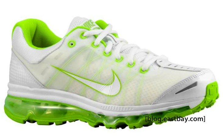 low priced 35559 4ae01 Available now  Nike Air Max 2009 Womens – White Action Green