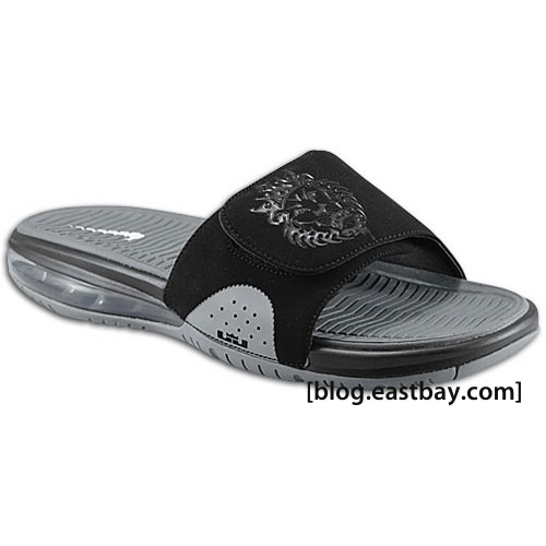 size 40 d16dd 6a945 Available  Nike Air LeBron Slide – Black Wolf Grey